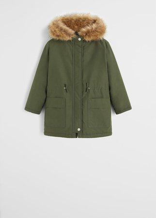 Feather belt coat - Girls | Mango Kids Canada