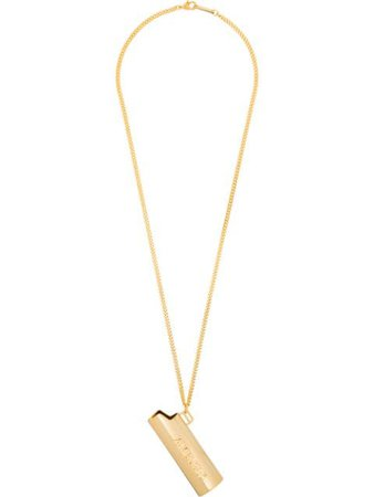 Gold AMBUSH Lighter pendant necklace 12112093 - Farfetch