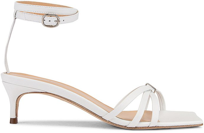 Kaia Leather Sandal in White | FWRD