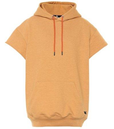 Short-sleeved cotton hoodie