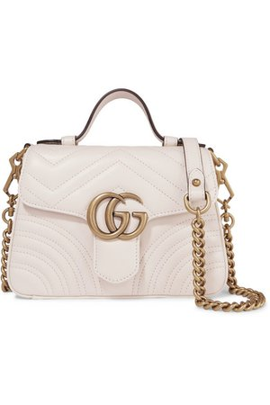 Gucci | GG Marmont mini quilted leather shoulder bag | NET-A-PORTER.COM
