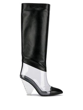 Balmain PVC Knee High Boots - Farfetch