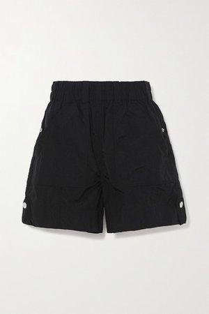 Crinkled Shell Shorts - Black