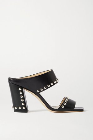 Matty 85 Studded Leather Sandals - Black