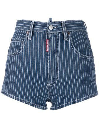 Dsquared2 Pinstripe Denim Shorts - Farfetch