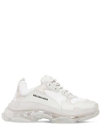 BALENCIAGA TRIPLE S BUBBLE SOLE SNEAKERS.