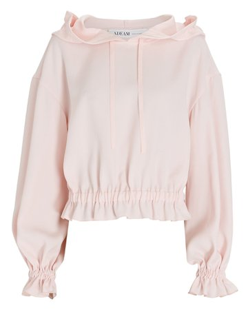 ADEAM Ruffled Crepe Hooded Sweatshirt | INTERMIX®