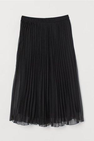 Pleated skirt - Black - Ladies | H&M