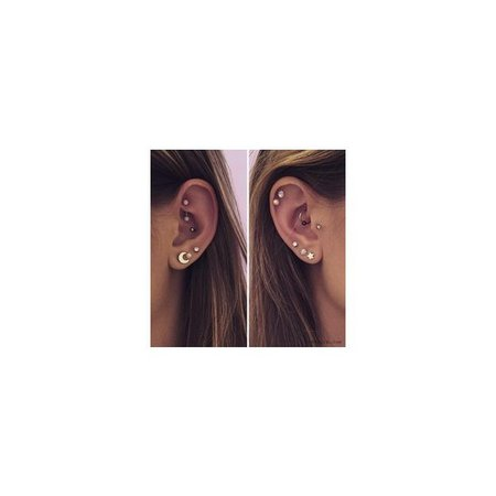 The Past Is All Behind Me — Cute ear piercings ❤ liked on Polyvore