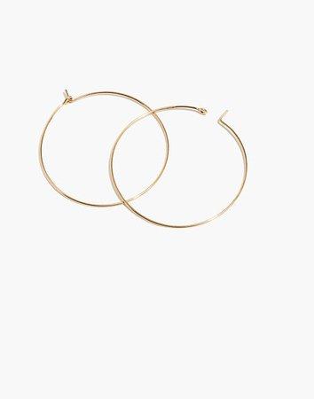 14k Gold-Filled Large Hoop Earrings