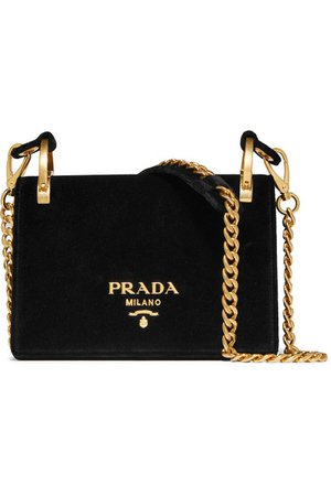 Prada | Pionniere velvet shoulder bag