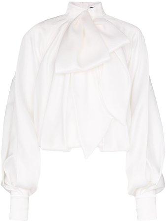 Balmain   oversized pussybow blouse
