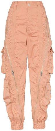 zip detail utility pocket cargo trousers
