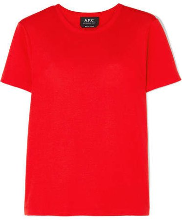 Cotton-jersey T-shirt - Red