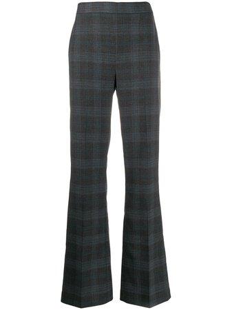 Essentiel Antwerp Plaid Wide-Leg Trousers | Farfetch.com