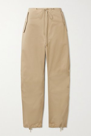 Cotton-twill Tapered Pants - Beige