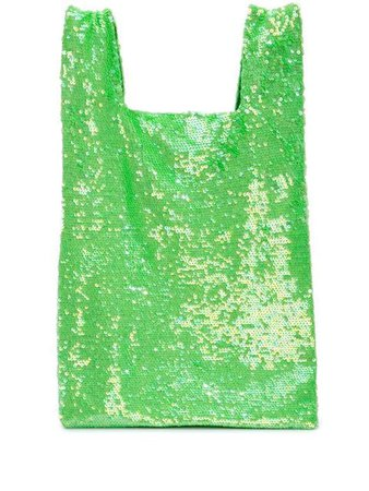 Ashish Sequin Slouchy Tote BAG001LIMESM Green | Farfetch