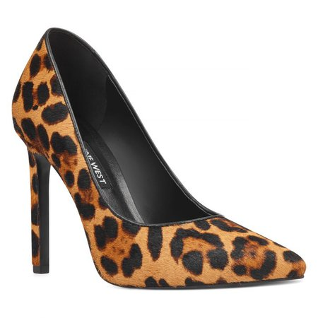 Tatiana Pointy Toe Pumps - Leopard Haircalf | Women Shoes & Handbags for Women