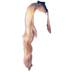 Blonde Hair PNG Bow Clips/Pins (ROSE PARK HAIR)