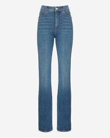 High Waisted Medium Wash Bootcut Jeans