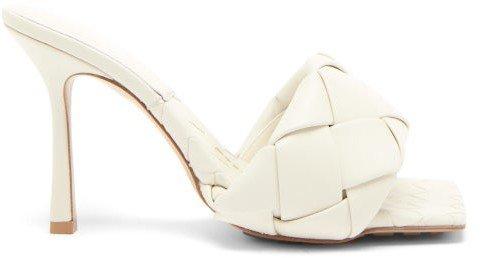 Lido Intrecciato-woven Leather Sandals - White