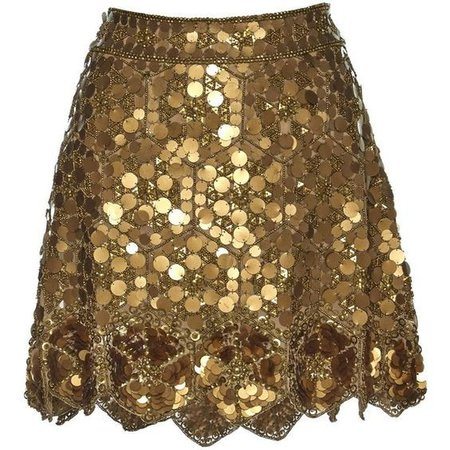 gold skirt png