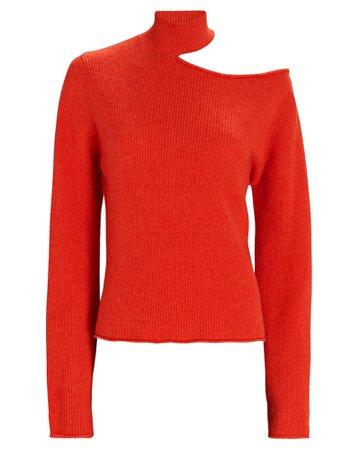 RtA Langley Cut-Out Turtleneck Sweater | INTERMIX®