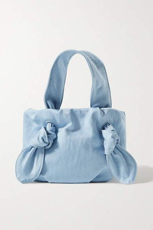 Ronnie Knotted Canvas Tote - Light blue