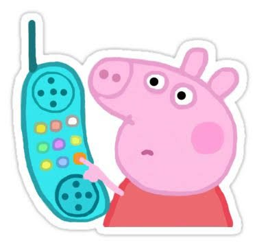 peppa pig phone meme sticker - Google Search
