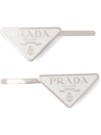 Prada Hårspänne Med Logotyp - Farfetch