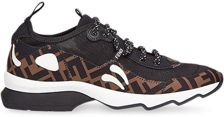 FF motif technical mesh sneakers