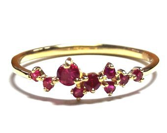 Dainty Ruby Ring-Gold Ring-Ruby Ring-925K Silver Handmade | Etsy