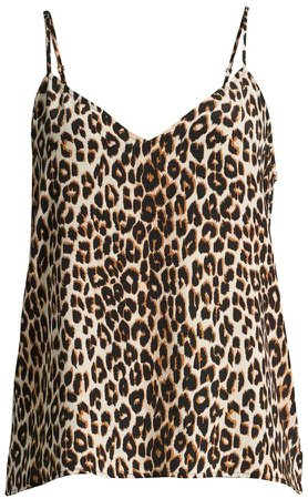 Layla Leopard-Print Camisole Top