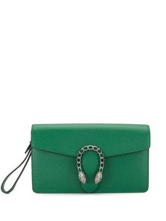 Gucci, Dionysus Green Clutch Bag