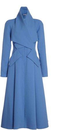 Emilia Wickstead Ivette Wrap-Effect Wool Dress