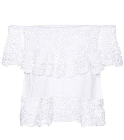 Santorini off-the-shoulder cotton top