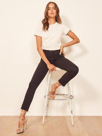 Serena High Skinny Crop - Reformation