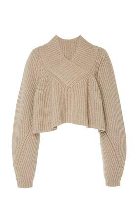 Ivy Cropped Cashmere Sweater by Khaite | Moda Operandi