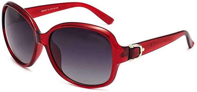 Amazon.com: EFE Classic Oversized Polarized Sunglasses for Women Composite TR90 Frame UV 400 Protection Fashion Retro Eyewear: Clothing