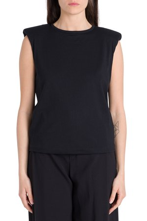Federica Tosi Sleveless Tee With Padded Shoulder