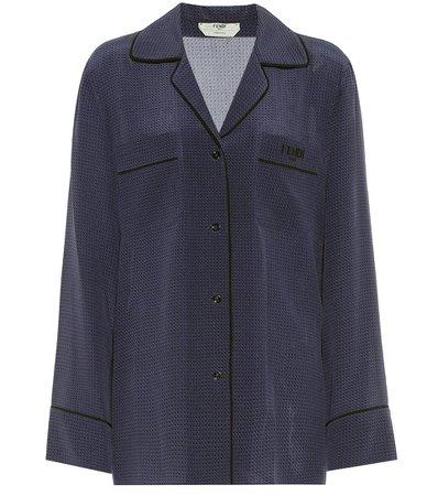 Fendi - Polka-dot silk blouse   Mytheresa