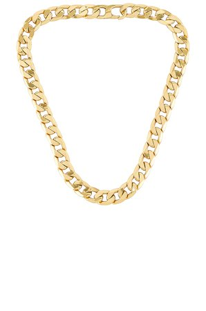 BaubleBar Large Michel Curb Chain Necklace in Gold | REVOLVE