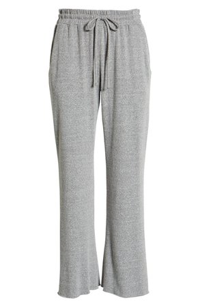 Socialite Crop Wide Leg Sweatpants | grey