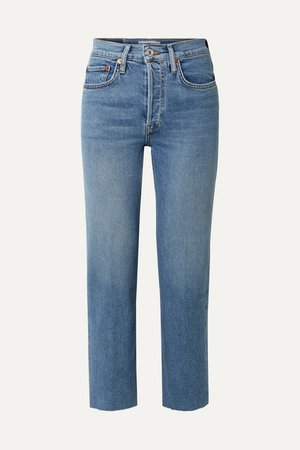 RE/DONE | Originals Stove Pipe Comfort Stretch high-rise straight-leg jeans | NET-A-PORTER.COM