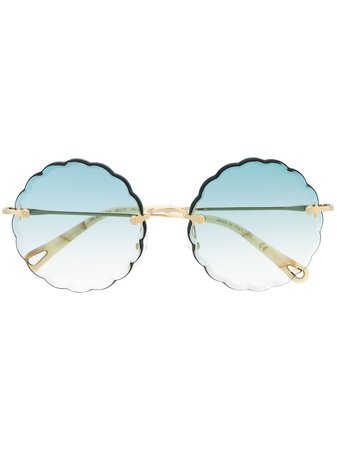 Chloé Eyewear Oversized Sunglasses CE142S Blue | Farfetch