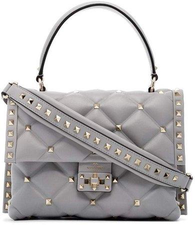 grey medium Candy studded leather shoulder bag
