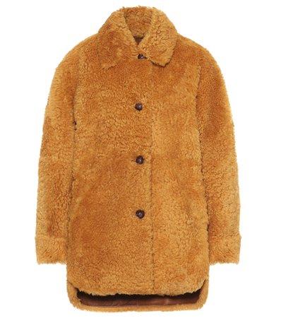 Sarvey Shearling Coat | Isabel Marant - Mytheresa