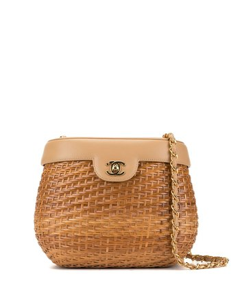 Chanel Pre-Owned Basket Cc Shoulder Bag Vintage | Farfetch.com