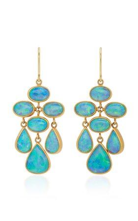 Trapeze 22K Gold Opal Earrings by Mallary Marks   Moda Operandi