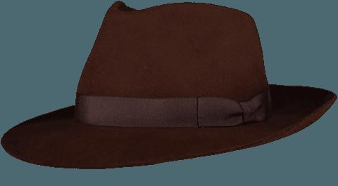 Brown Fur Felt Fedora - Home of the Original Estribos Polo Belt